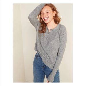 NWT Old Navy Oversize Waffle Knit Thermal Henley